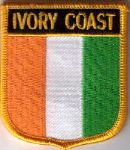 Ivory Coast Embroidered Flag Patch, style 07.